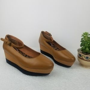 80%20 LEATHER WEDGE PLATFORM SHOES